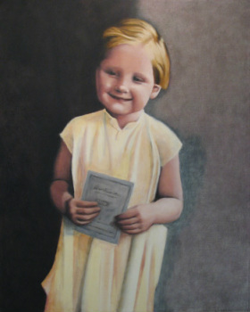 Angela Merkel as a child